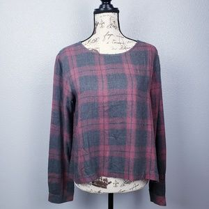 Cloth & Stone flannel long sleeve top sz M.
